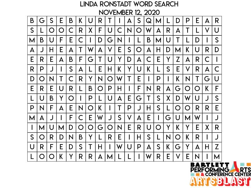 Linda Ronstadt Wordsearch 11.12.2020