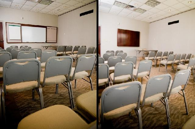 Facility Tour conference room collage